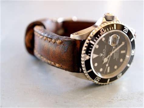Tali Jam Kulit Jade Black Padded leather on the submariner 116610 ln rolex forums