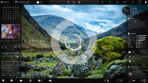 live themes for opera supercharge your desktop with rainmeter widgets pcworld