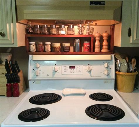 Stove Spice Rack by Spice Rack Diy Made Of 1 Quot X4 Quot Spruce Stained And