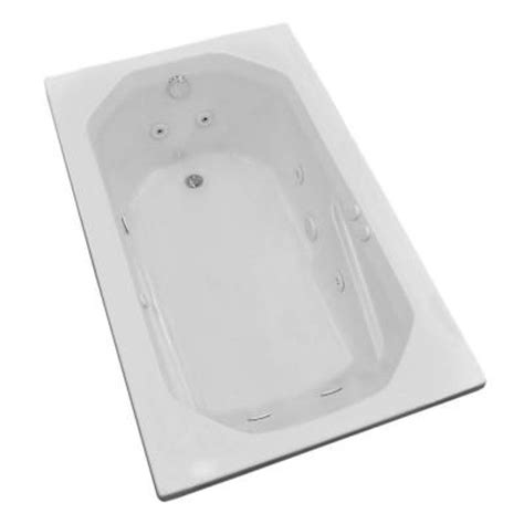 home depot whirlpool bathtubs universal tubs onyx 5 ft whirlpool tub in white hd3660mwr