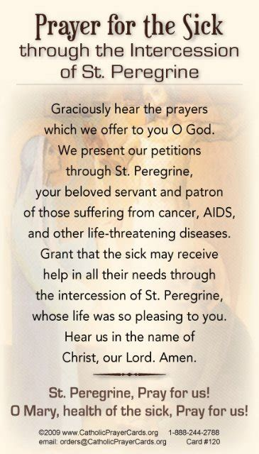 catholic prayer for the sick prayer quotes quotesgram