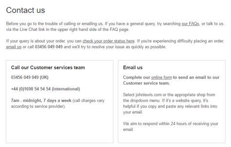email format john lewis john lewis customer service contact number helpline