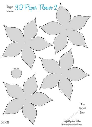 3d paper flowers template 3d paper flower templates 2 cu4cu cup849754 2049