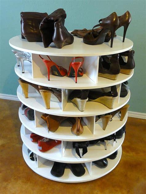 Lazy Susan Shoe Rack Plans by Shoe Storage Solutions Hgtv Design Design Happens