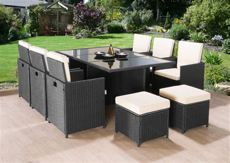 cube patio furniture 11pc cube rattan garden furniture set 10 seater ij907 mix brown or black the back rest for