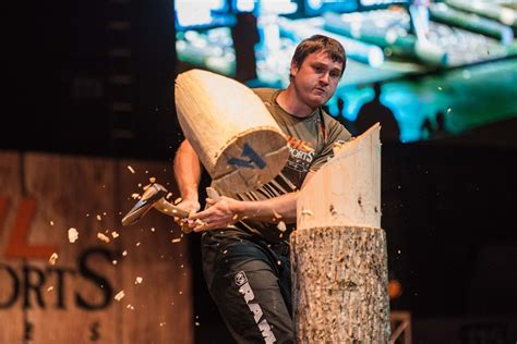 axe swing swing an axe for a living as a lumberjack athlete