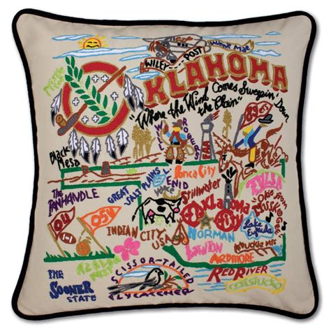 Embroidered State Pillows by Oklahoma Embroidered Pillow