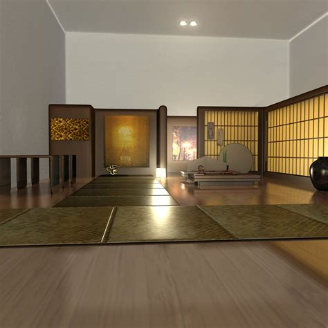 tea house interior japanese tea house interior 3d model obj fbx ma mb dae cgtrader com