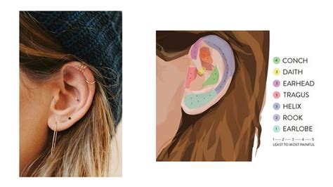 tattoo behind ear pain level names of different ear piercings and pain levels lee