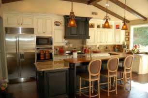 Kitchen Island Design With Seating by Rustic Kitchen Island With Extra Good Looking Accompaniment