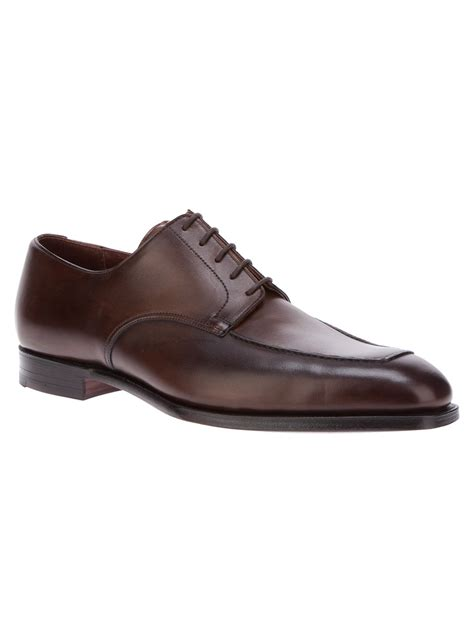crockett jones leeds derby shoe in brown for lyst