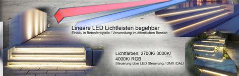 beleuchtung treppenstufen aussen led leisten wasserfest f 252 r aussenbereiche treppen und