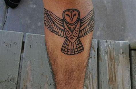owl tattoo knee owl tattoo on leg