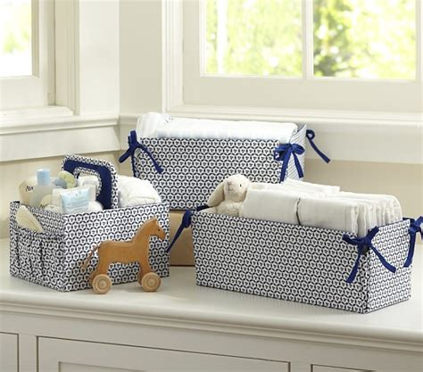 Navy Changing Table Navy Geo Nursery Storage Pottery Barn