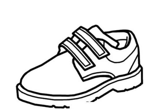 imagenes de zapatos infantiles para colorear zapatoescolar dibujo de un zapato de charol con velcro