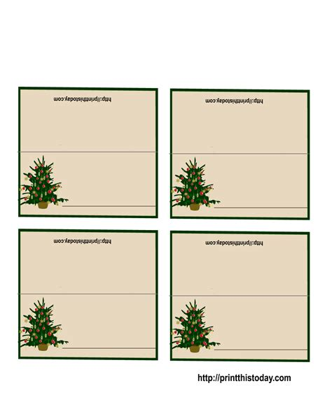 printable name place cards template free printable place cards