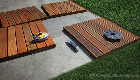 Installing Wood Deck Concrete Patio by Decking Tiles Installation Ipe Wood Deck Tiles Install