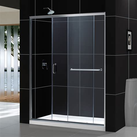 Dreamline Frameless Sliding Shower Door Dreamline Dl 697 Infinity Z Frameless Sliding Shower Door And Slimline Single Threshold Shower