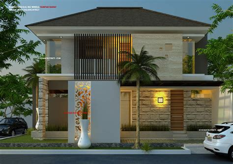 design eksterior model rumah hook 2 lantai 2 eksterior desain pinterest