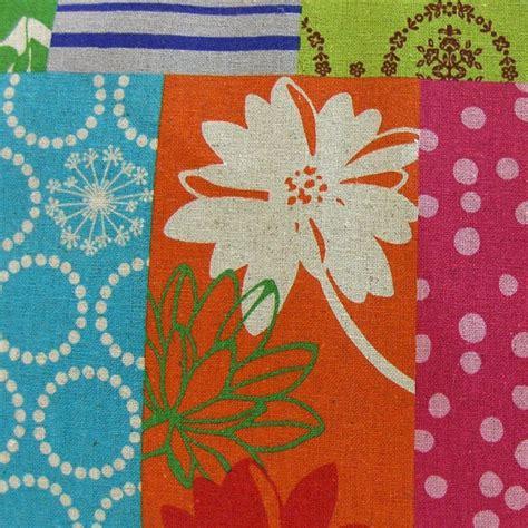 Patchwork Orange - echino patchwork cheater orange