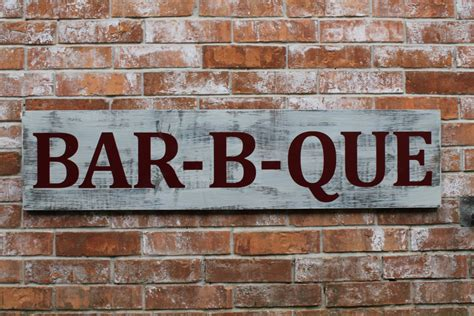 Outdoor Kitchen Signs by Bbq Sign Bar B Que Grill Sign Bbq Outdoor Kitchen Sign