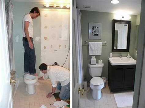 miscellaneous small bathroom renovations before and