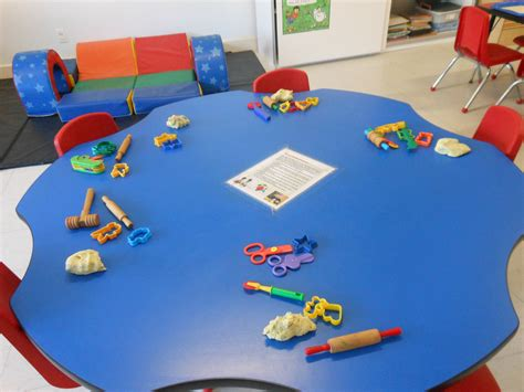 Playdough Table by Make Your Own Play Dough