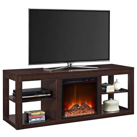 fireplace tv stand in espresso 1816096com