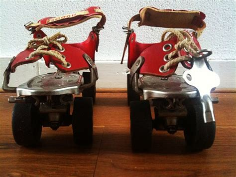 1000 images about roll on pinterest roller derby derby hudora red vintage metal roller skates with key xcntric