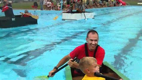 kingsport cardboard boat race crazy cardboard boat race youtube