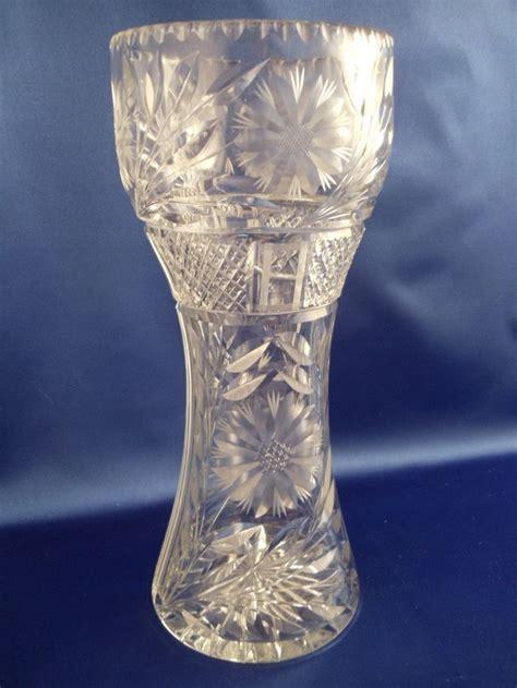 vintage american brilliant period cut glass vase 12 quot