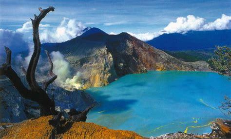 kawah ijen  danau kawah terbesar  dunia ilul