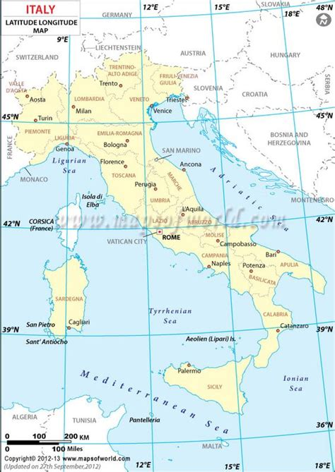 lat map italy latitude and longitude map my work country maps travel maps and america