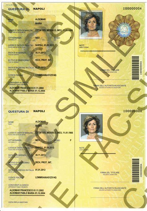 carta di soggiorno cartacea nuovo modello di permesso di soggiorno cartaceo