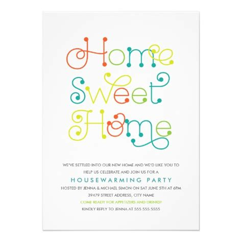 housewarming invitations templates whimsical housewarming invitation zazzle