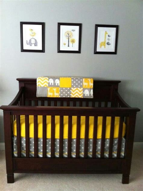 Grey Brown Crib by Best 20 Yellow Gray Nurseries Ideas On Gray