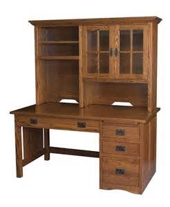 Wooden Computer Desk With Hutch Amish Mission Computer Desk Hutch Solid Wood Home Office Rustic Furniture Oak Ebay