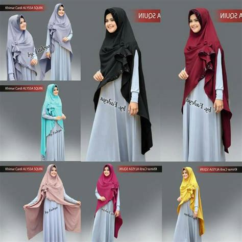 Khimar Squin Pita alyssa squin khimar cardi by fadeya melody fashion
