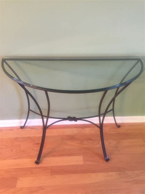 Glass Entry Table Letgo Glass Foyer Table In Suwanee Ga