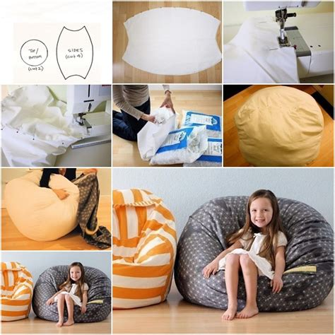 how to diy fabric beanbag for fab diy