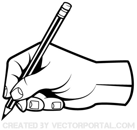 free vector graphics clipart human holding a pencil clip free
