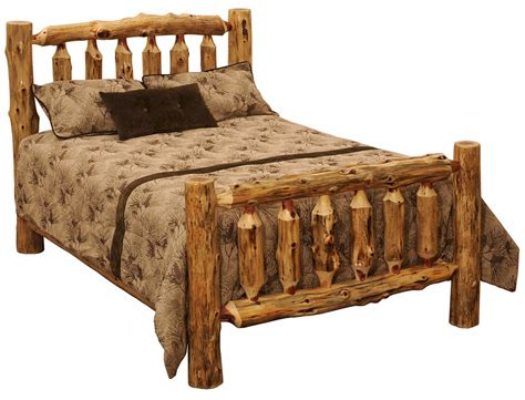 log bed rustic red cedar log bed