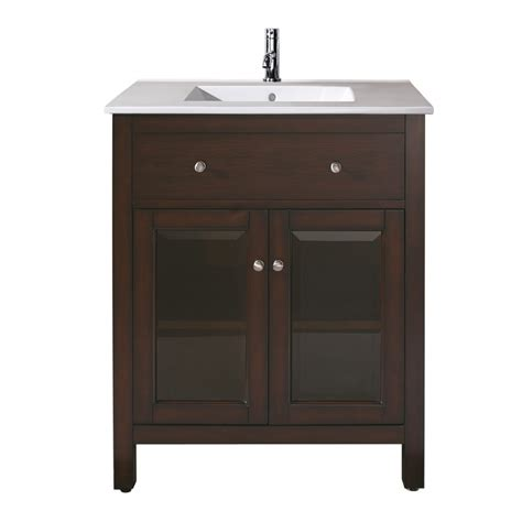 24 inch single sink bathroom vanity with choice of top