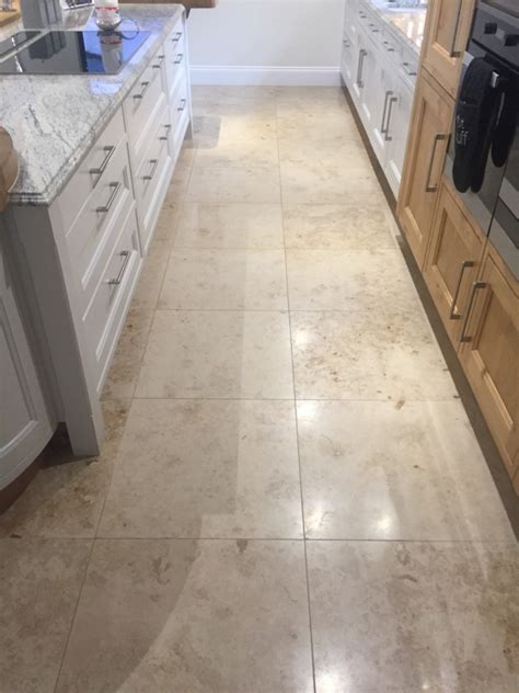 Laying Limestone Floor Tiles by Marble Floor Tiles Restored Through Burnishing In