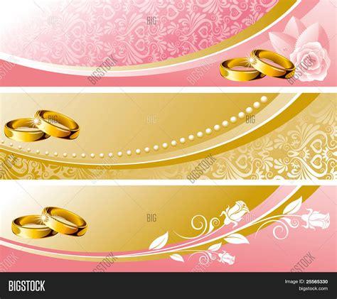 Wedding Background Set by Set Wedding Background Pink Gold Vector Photo Bigstock