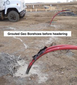 what is a grouted geothermal borehole that's used for geo