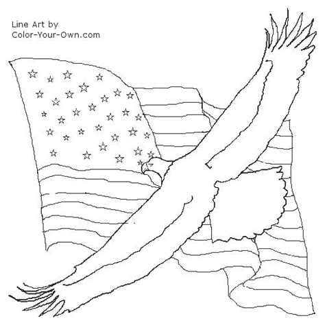 american flag and eagle coloring page bald eagle and american flag coloring page