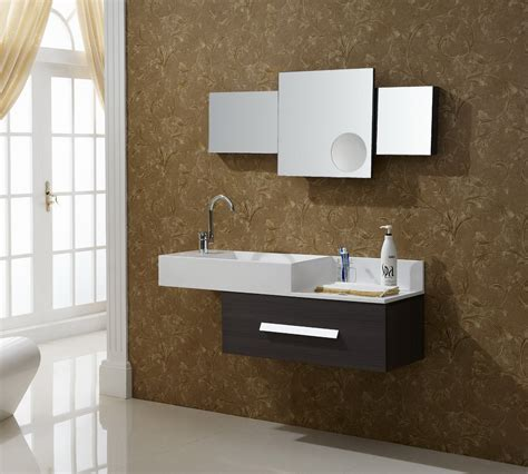 Modern Vanities For Small Bathrooms Modern Small Bathroom 2017 Grasscloth Wallpaper