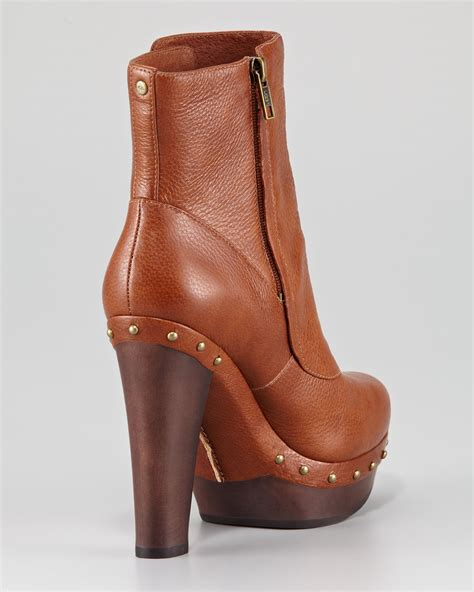 ugg cosima clog ankle boot in brown chestnut lyst