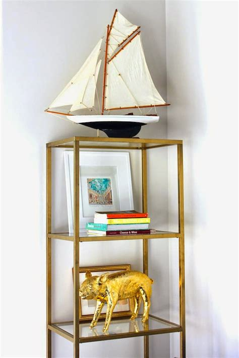 Gold Shelf by Picture Of Diy Gold Etagere From An Shelf